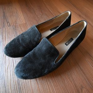 Ecco Women's Suede Black Loafers